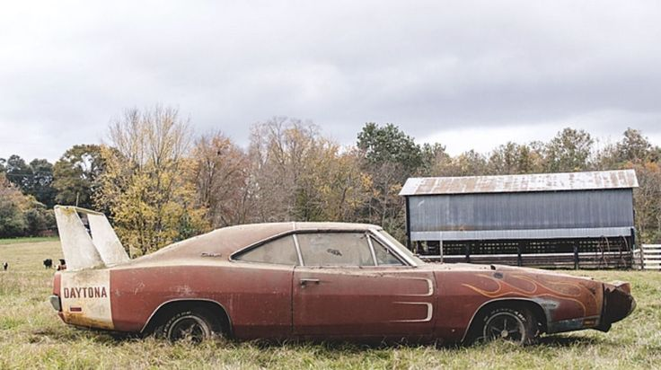 Ultra-Rare, $180,000 1969 Dodge Charger Daytona Discovered Rusting in a Barn