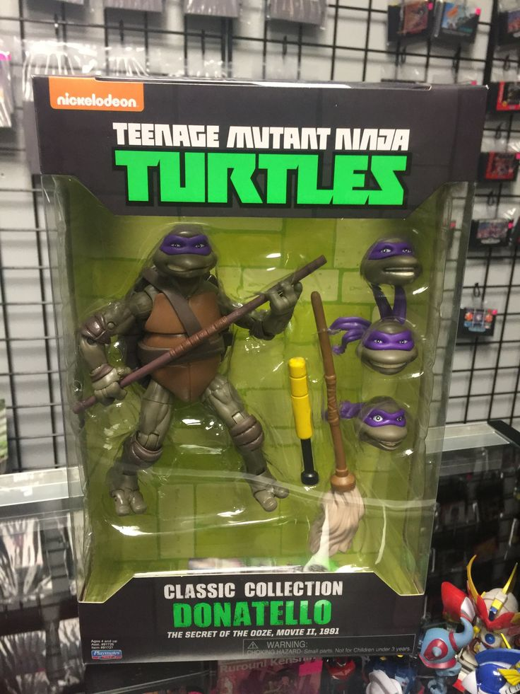 TMNT Classic Collection The Secret Of The Ooze Movie 2 1991 Donatello Playmates