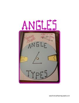 Angles Wheel for Interactive Notebook