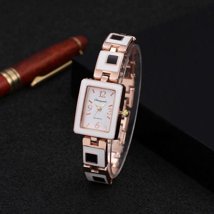 2016 Hot sale fashion Chaoyada watch women ladies square dial stainless steel band quartz watch women bracelet watch