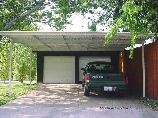 Mhp double carport aluminum and steel construction - Carport double alu ...