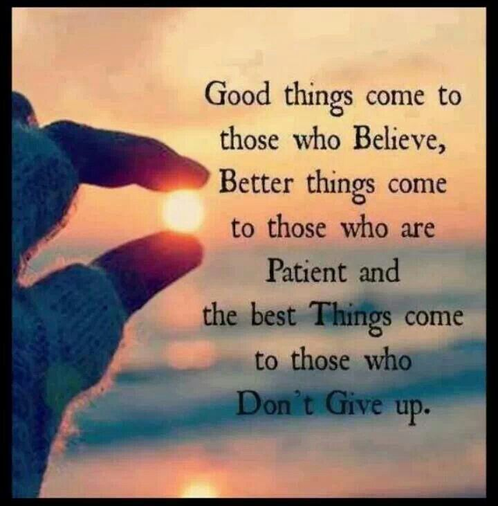 Don't give up. That is EXACTLY what they want.