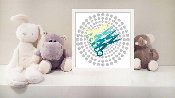 Scissors printable nursery art instant download by MonsterTots