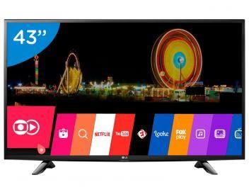 """Smart TV LED 43"""" LG Full HD 43LH5700 - Conversor Digital Wi-Fi 2 HDMI 1 USB com as melhores condições você encontra no Magazine Allameda. Confira!"""