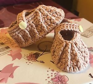 "Bailarina-Manoletina ""0 Meses"" Rosa Vintage Bebé Baby Ballerinas CROCHET | eBay"