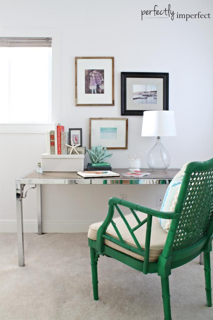 coastal bedroom desk & writing space | perfectly imperfect