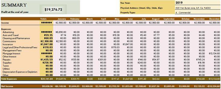 rental property tax deductions worksheet Tax deductions