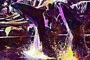 "New artwork for sale! - "" Dolphins Animals Nature  by PixBreak Art "" - http://ift.tt/2uQ4ezv"