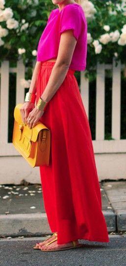 Colorblock red + fuchsia