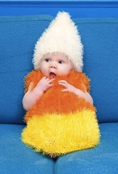 Candy corn isn't known for its mobility.  | 19 Creative Costumes For Babies Who Are Too Young To Walk