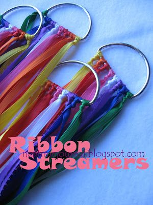 Ribbon Streamers - great for Easter, Pentecost or any time of celebration in the church. Could change the colours to suit the liturgical season.