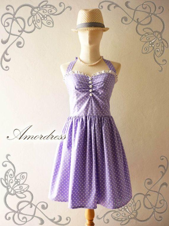 Purple Sundress Bridesmaid Dress Purple Summer Dress by Amordress, $55.00