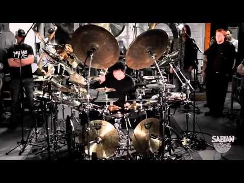 Terry Bozzio's All Cymbal Drum Set - YouTube