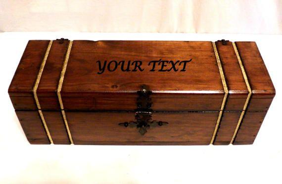 Caja De Vino Personalizada Caja De Vino De Boda por Personalizedbox