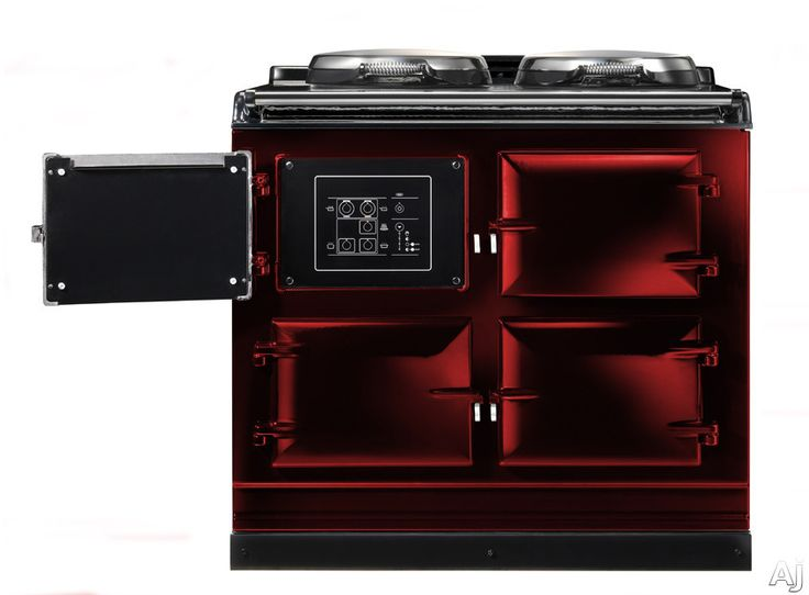 Image of AGA Total Control ATC3CLT 39 Inch Cast-Iron Electric Range with 3 Large Ovens, 2 Hotplates, 10 Cooking Methods, Touch-Screen Control Panel and Remote Control Handset: Claret