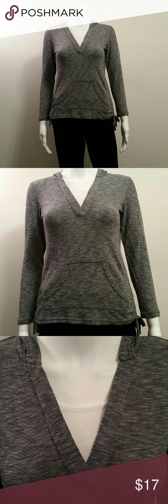 NWT Style&Co Petite Hoodie w Mock Undershirt NWT Style&Co Petite Black and White Hoodie w Mock Undershirt Retail  $49 Style&Co  Tops Sweatshirts & Hoodies
