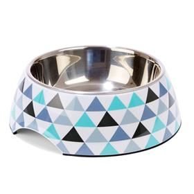 Dog Bowl - Geometric Print, Large