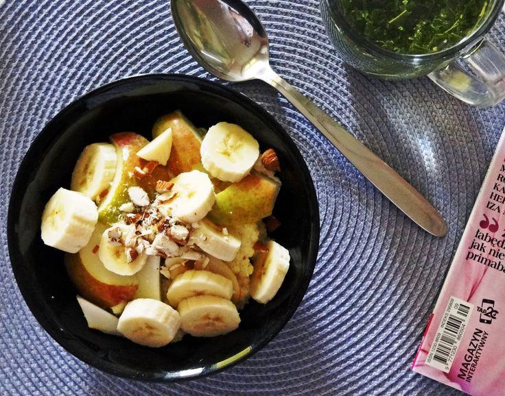 Kasza jaglana bananowo-gruszkowa/ Banana-pear millet groats - Gosia's Food 'n' Lifestyle