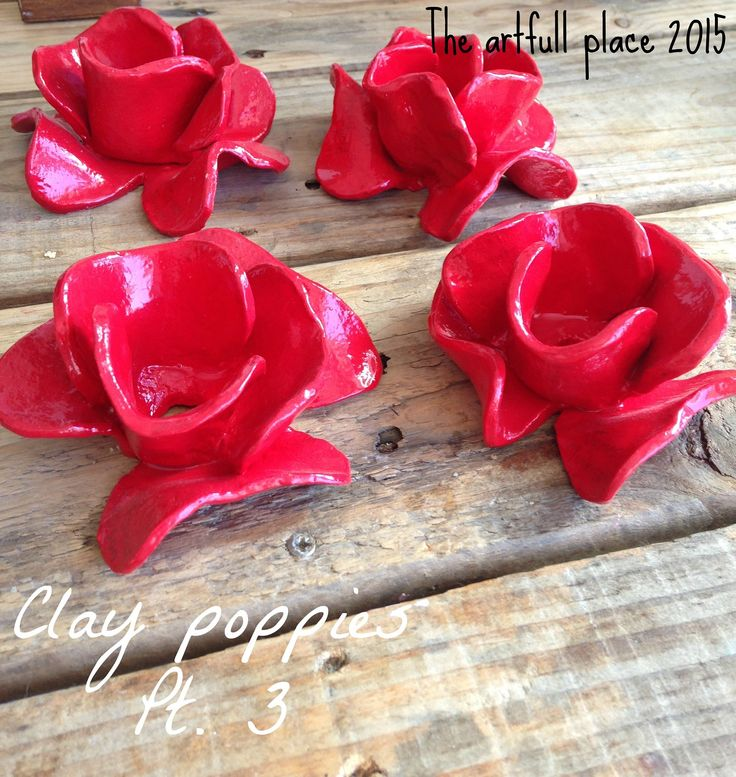Pt. 2 on my take on the clay poppies made for memorial day. For more details visit my blog - http://theartfullplace.blogspot.com/