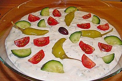 Griechischer Schichtsalat mit Hackfleisch (Rezept mit Bild) | Chefkoch.de