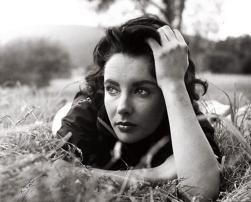 Elizabeth Taylor by Peter Basch. On the set of Giant. 1956