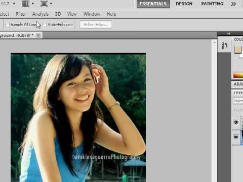 Adobe Photoshop: Blur the Background and Focus on Image/Object  with a lasso tool
