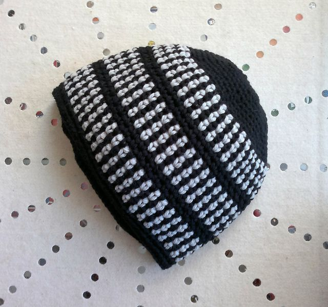2 colors basic beanie ~ free pattern ᛡ