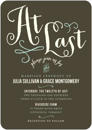So much cool typography these days. Invites are fun. :)