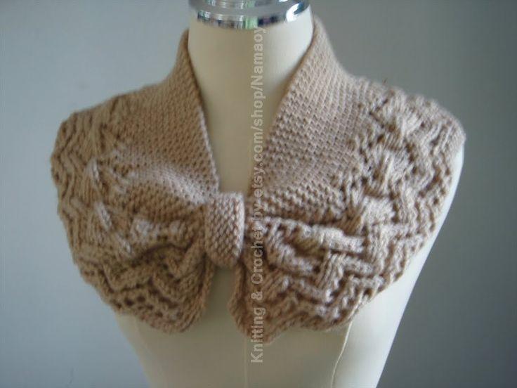Myknittingdaily: Knitting Neck warmer,cowl,cozy Light Brown