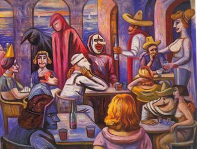 Raúl Anguiano, 'Carnaval', México / arte, pintura, mexican art