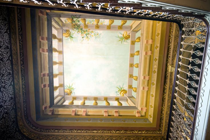 Skylight in main entrance, looking above
