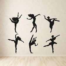 BALLERINA wall sticker ballet dancer stickers girls dance decal bedroom vinyl