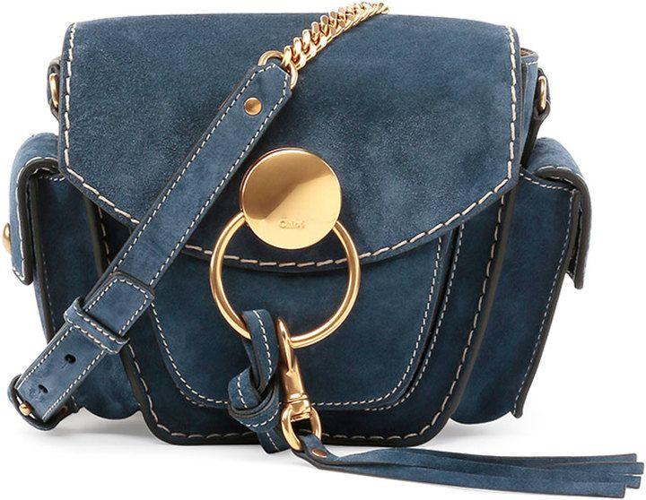 Chloe Jodie Small Suede Camera Bag, Navy | BAGS | Pinterest ...
