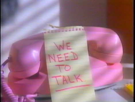 We need to talk!