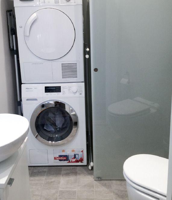 Dette er et par bilder fra etprosjekt hvor det i en leilighet blant annet skulle lages et ekstra bad med plass til vaskemaskin.