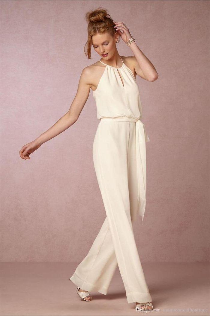 5a078f0e2a3598 weiße bekleidung für frauen overall damen elegant breites design schönes  modell model