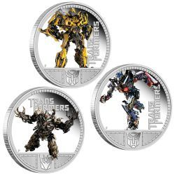 The Transformers immortalized in silver down under at the Perth Mint, Australia.