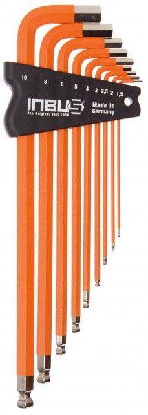 INBUS® 70310 - Orange 9tlg. 1,5-10mm Made in Germany      Satz 9tlg. 1.5-10mm     hochwertig in orange pulverbeschichtet     optisch sehr ansprechend und funktional     10 Jahre Garantie     Marke: INBUS® - Das Original seit 1934.  http://www.inbus.de/home/inbus-farbcodiert/51/inbus-70310-inbusschluessel-satz?c=8