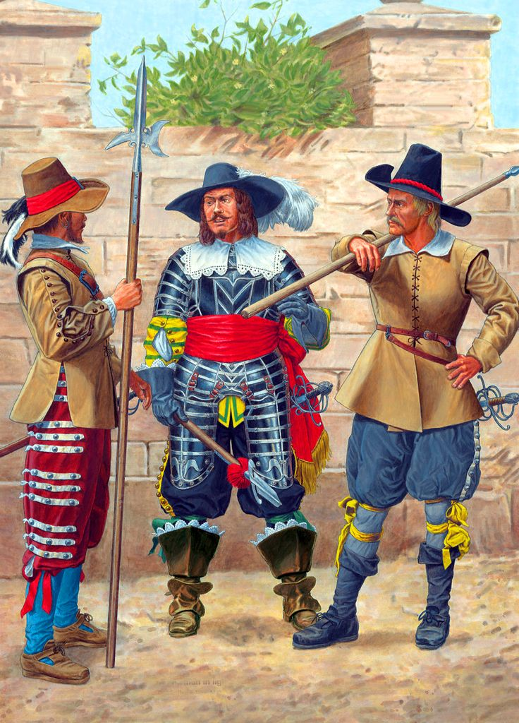 Imperial pikemen and halberdier of the Thirty Years' War