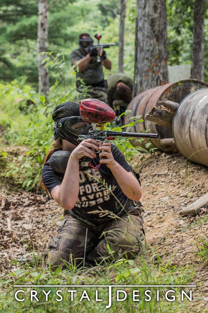Paintball match, combat photography experience!