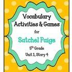 Satchel Paige Vocabulary Activities & Games- 5th Grade Uni