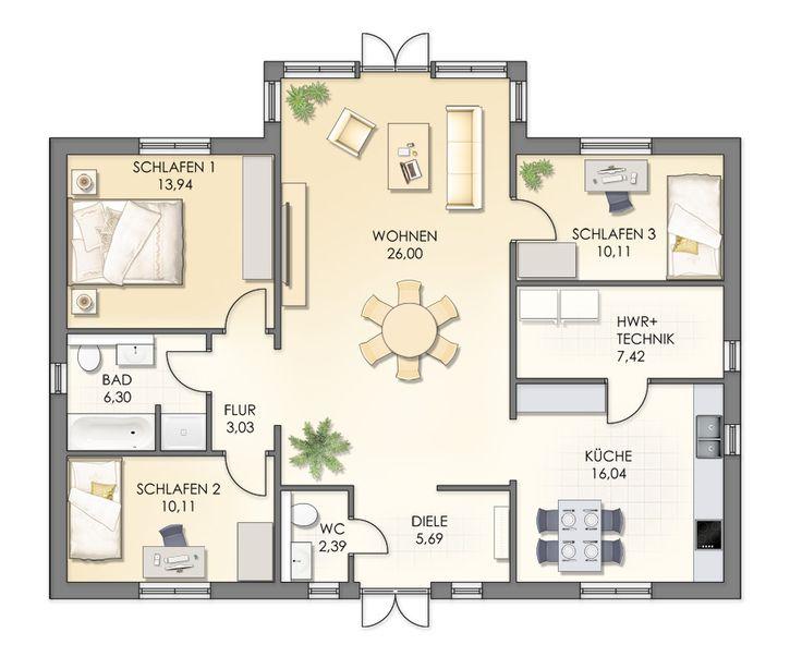 149 best Grundrisse images on Pinterest Cottage floor plans - plan 3 k che