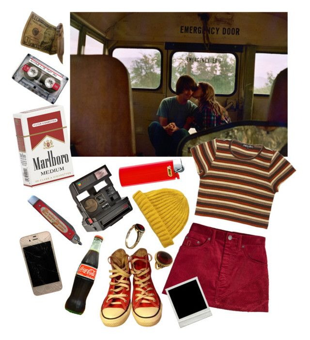 """long drive, act alive"" by fuzzheadd ❤ liked on Polyvore featuring INDIE HAIR, Marc Jacobs, Converse, Rock 'N Rose, Lowie and Polaroid"