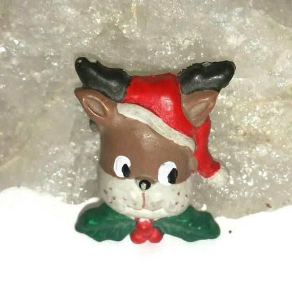 Check out this item in my Etsy shop https://www.etsy.com/ca/listing/565594240/cute-reindeer-brooch-santa-reindeer