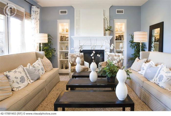 wohnzimmer blau beige blue and beige living room bathrooms pinterest - Wohnzimmer Blau Beige