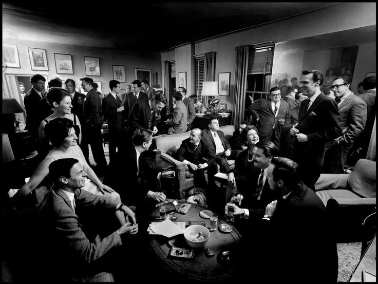 Literary cocktail party at George PLIMPTON's Upper East Side apartment.