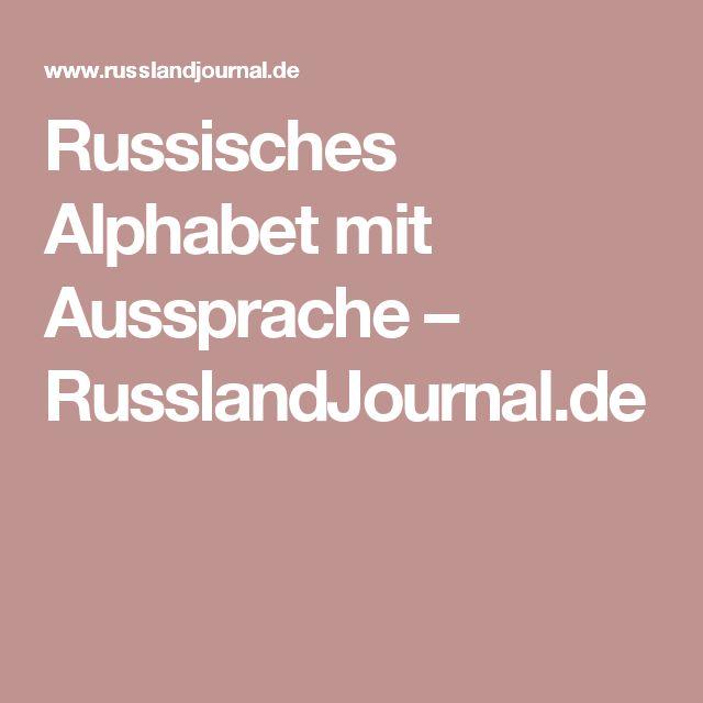 Russisches Alphabet mit Aussprache – RusslandJournal.de