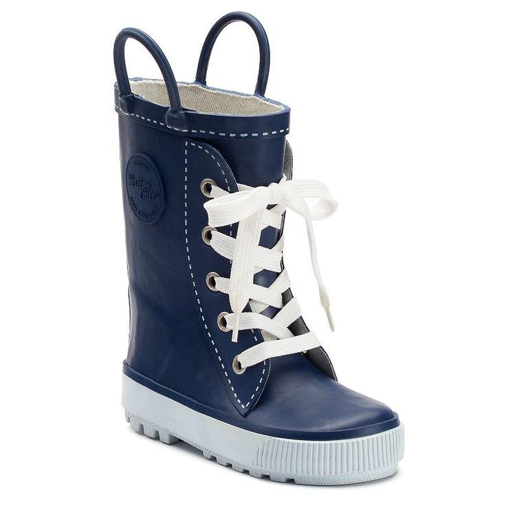 Western Chief Sneaker Boot Toddler Waterproof Rain Boots, Med Blue