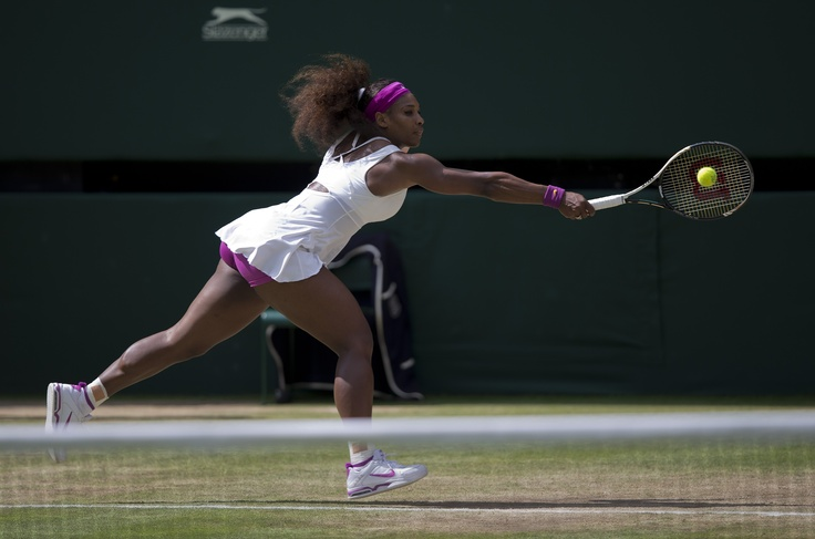 Serena Williams in action during the 2012 Wimbledon Championships.  Serena will join her sister, Venus, on the Washington Kastles for the 37th season of World TeamTennis.