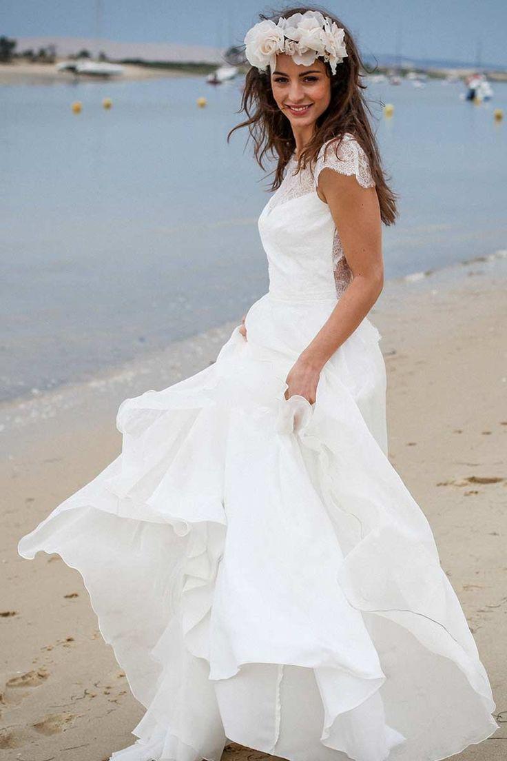 Carla - Collection 2016 - Marie Laporte - marie-laporte.fr #Wedding #marielaporte #collection2016 #paris #mariage #creatrice #robes #mariee #dress